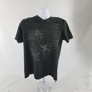 Men's Medium DKNY Black Graphic T-Shirt